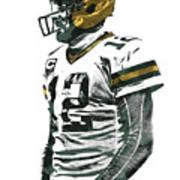 Aaron Rodgers Green Bay Packers Pixel Art 5 Poster