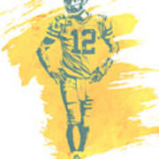 Aaron Rodgers Green Bay Packers Water Color Art 1 Poster