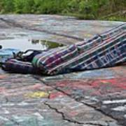 Abandoned Couch On The Graffiti Highway Poster