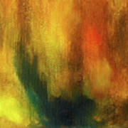 Abstract Background Structure With Oil Painting Texture In Tones Of Nature. Poster