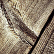 Abstract Detail Of A Wooden Old Board Poster