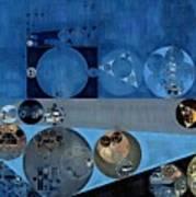Abstract Painting - Bermuda Grey Poster
