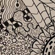 Aceo Zentangle Abstract Design Poster