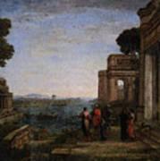 Aeneas Farewell To Dido In Carthago  Poster