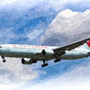 Air Canada Boeing 767 Art Poster