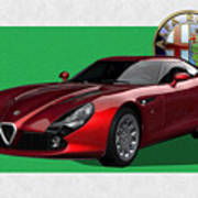 Alfa Romeo Zagato  T Z 3  Stradale with 3 D Badge  Poster