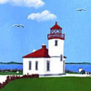 Alki Point Lighthouse Poster