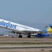 Allegiant Air Mcdonnell-douglas Md-83 N429nvmesa Gateway Airport Arizona March 11 2011 Poster