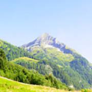 Alpine Mountain Peak Landscape. Poster