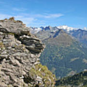 Alps Mountain Landscape  Poster