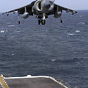 An Av-8b Harrier II Prepares To Land Poster