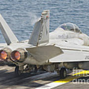 An Fa-18f Super Hornet Taking Off Poster