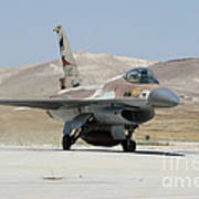 An Israeli Air Force F-16a Netz Taxiing Poster