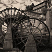 Ancient Chinese Waterwheels Poster
