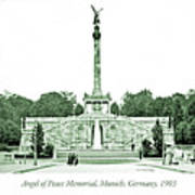 Angel Of Peace Memorial, Munich, Germany, 1903 Poster