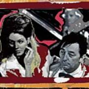 Angie Dickinson Robert Mitchum Pose Collage Young Billy Young Old Tucson Arizona 1968-2013 Poster