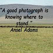 Ansel Adams Quote Poster
