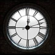 Antique Backlit Clock Poster