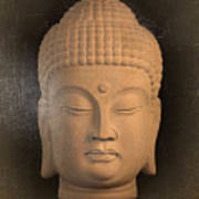 antique oil effect Buddha Korean ,, Poster