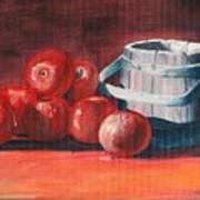 Apples - N - Wodden Basket Poster