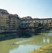 Arno River In Florence Italy Poster