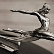 Art Deco Hood Ornament Poster
