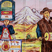 Artisan Market In Quito Poster