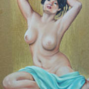 Artistic Nude Poster by Leida Nogueira