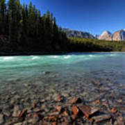 Athabasca River In Jasper National Park Poster by Mark Duffy