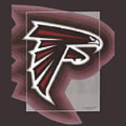 Atlanta Falcons Logo T-shirt Poster