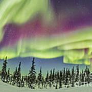 Aurora Borealis Over Churchill Poster
