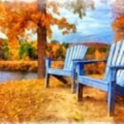 Autumn Splendor Watercolor Poster