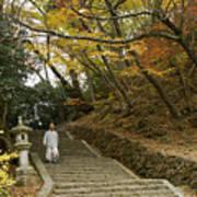 Autumn Stairway Poster
