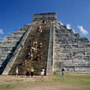 Aztec Pyramid In Mexico Poster