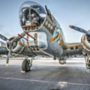 B17 Flying Fortress On The Ramp At Livermore Poster