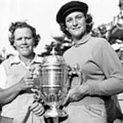Patty Berg And Babe Didrikson Poster