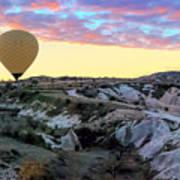 Ballooning At Sunrise No 2 Poster