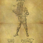Baseball Catcher's Mask Patent Poster