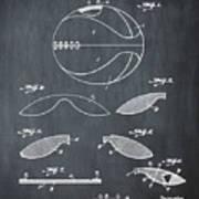 Basketball Patent 1916 Black Poster
