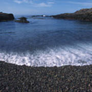 Beach At Point Lobos Poster by Stan and Anne Foster