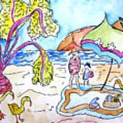 Beach Picnic Poster