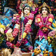 Beautiful Image Of Krishna And Radhe From Boise Hare Krishna Temple Poster
