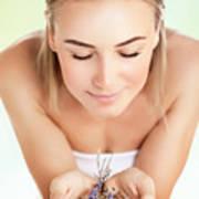 Beautiful Woman At Spa Salon Poster