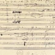 Beethoven Manuscript, 1826 Poster by Granger