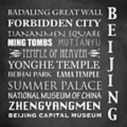 Beijing Famous Landmarks Poster