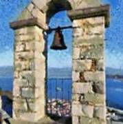 Belfry On Palamidi Castle Poster