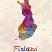 Belgium In Watercolor Poster