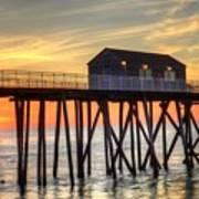 Belmar Fishing Pier Sunrise Poster