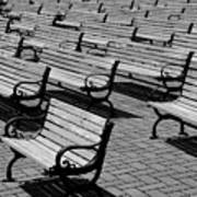 Benches Poster by Perry Webster