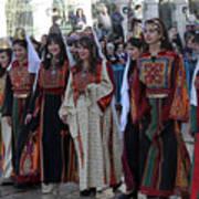 Bethlehemites In Traditional Dress Poster